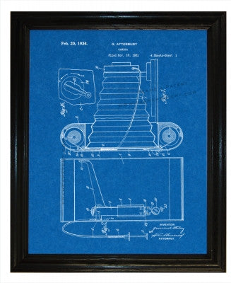 Camera Patent wall covering - Man Cave Ideas  - 3