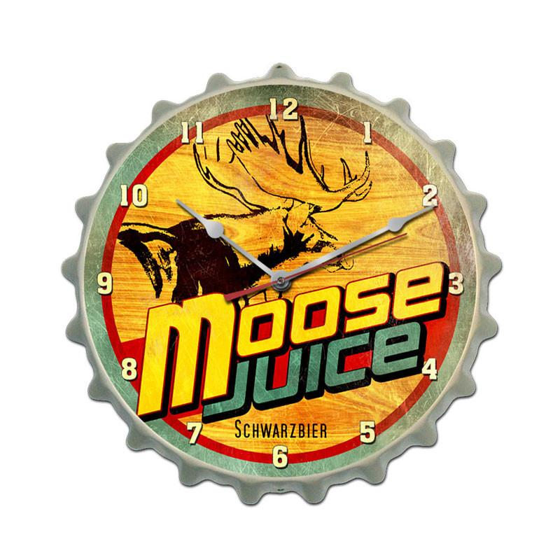 Moose Juice Clock - Man Cave Ideas