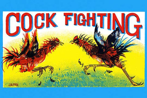 'Cock Fighting' vintage print - Man Cave Ideas