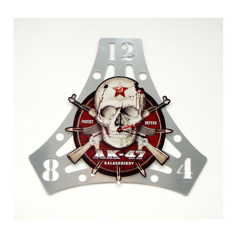 AK-47 Skull Clock - Man Cave Ideas