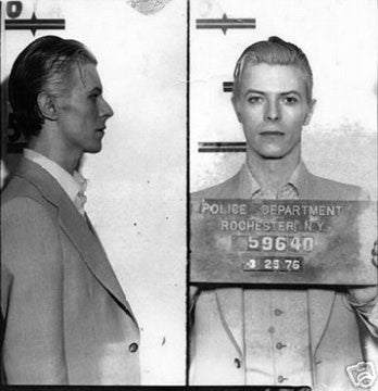 David Bowie Mugshot print (8 x 10) - Man Cave Ideas