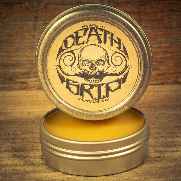 Death Grip Moustache Wax (1 oz tin) - Man Cave Ideas