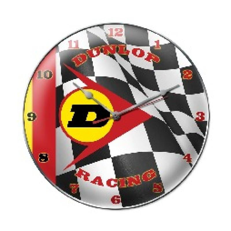 Dunlop Racing Clock - Man Cave Ideas