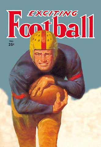 'Exciting Football' Magazine Cover vintage print - Man Cave Ideas