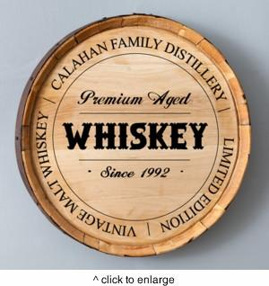 Personalized Whiskey Barrel Signs - Man Cave Ideas  - 1