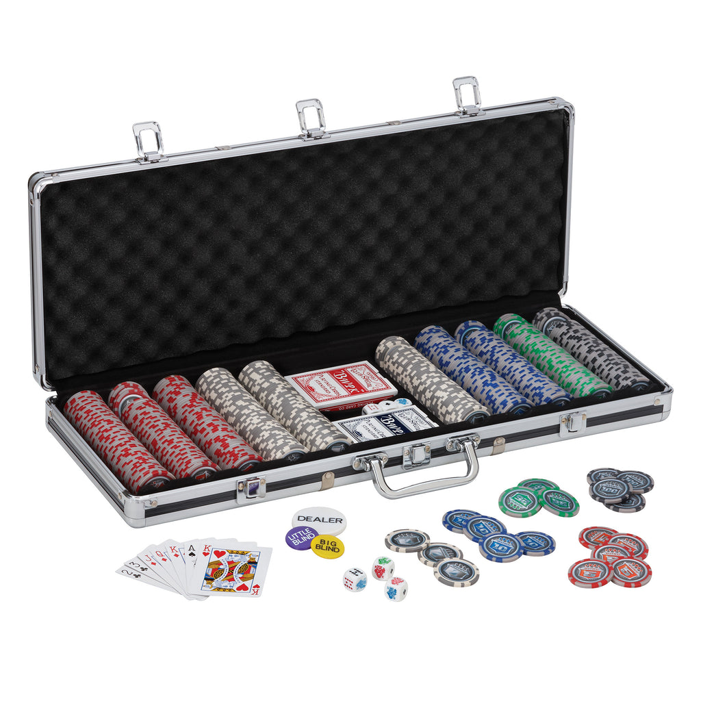 Casino Grade 500-count Poker Chip Set (Official Size 13.5 g chips) - Man Cave Ideas  - 1