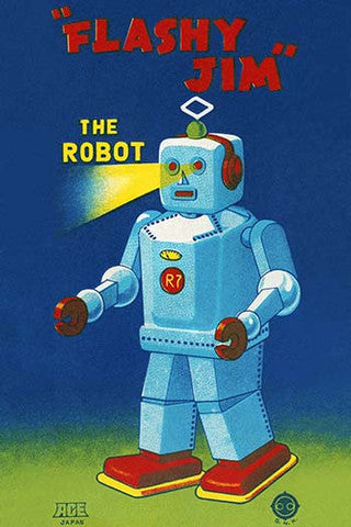 'Flashy Jim the Robot' vintage print - Man Cave Ideas