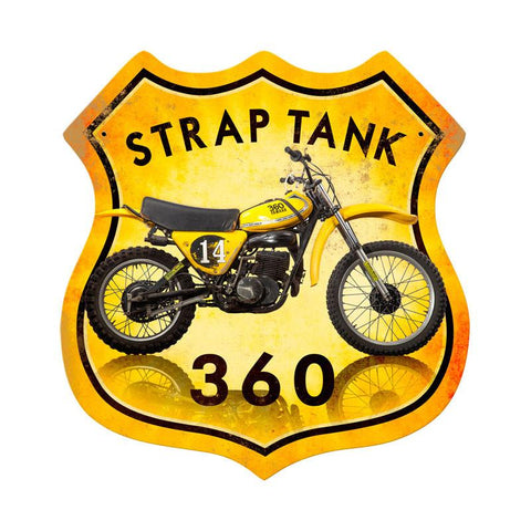Strap Tank 360 metal sign - Man Cave Ideas