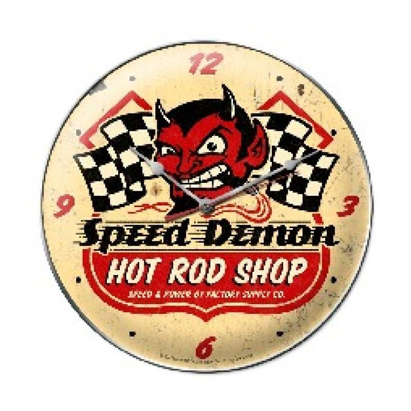 Speed Demon HRShop Clock - Man Cave Ideas