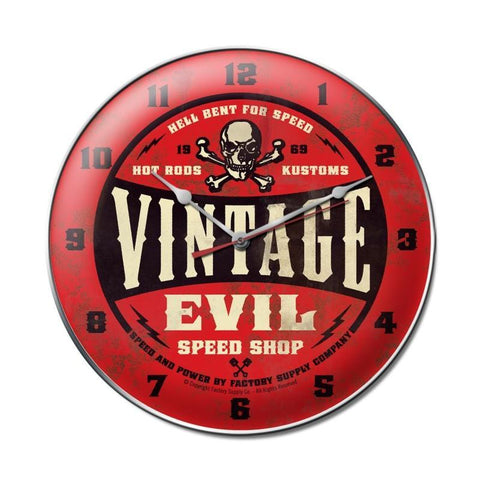 Vintage Evil red skull clock - Man Cave Ideas