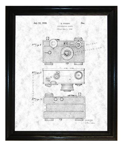 Henry Drotning Camera Patent wall covering - Man Cave Ideas  - 1