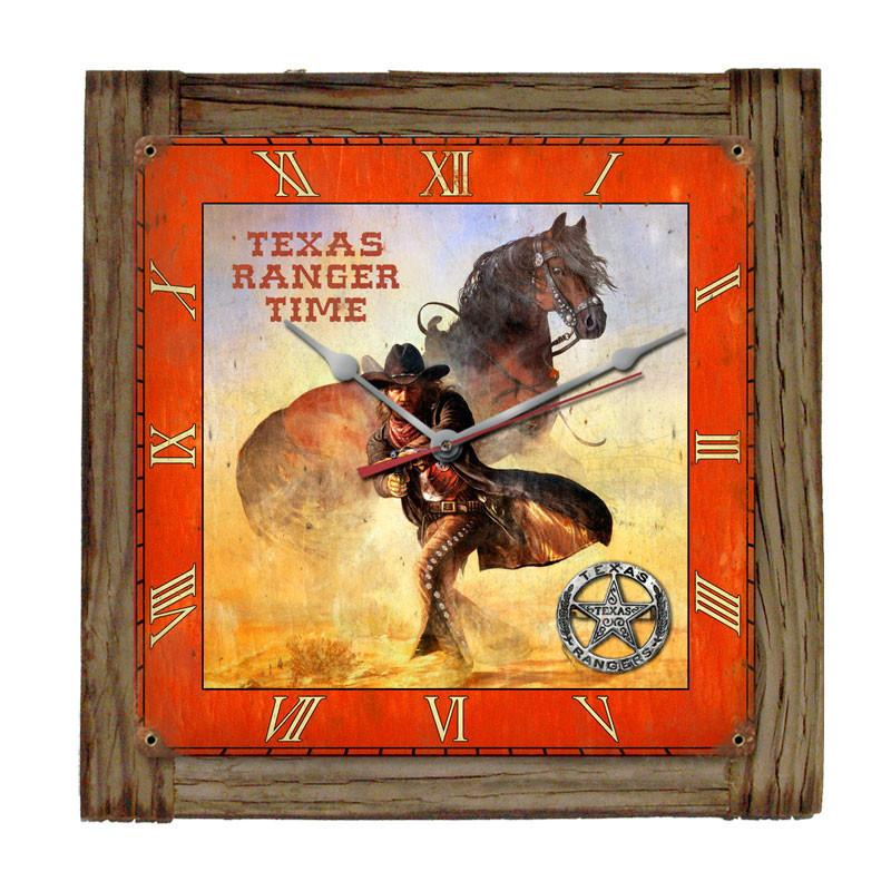 Texas Ranger Clock - Man Cave Ideas
