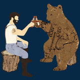 Having a Bear Shower Curtain - Man Cave Ideas  - 2