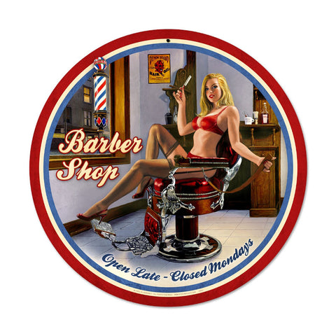 Barber Shop Metal Sign - Man Cave Ideas