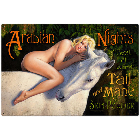 Arabian Nights Metal Sign - Man Cave Ideas