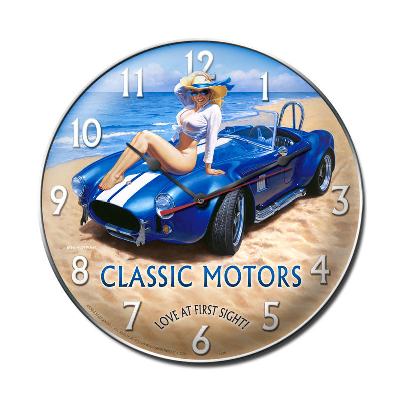 Classic Motors Clock - Man Cave Ideas