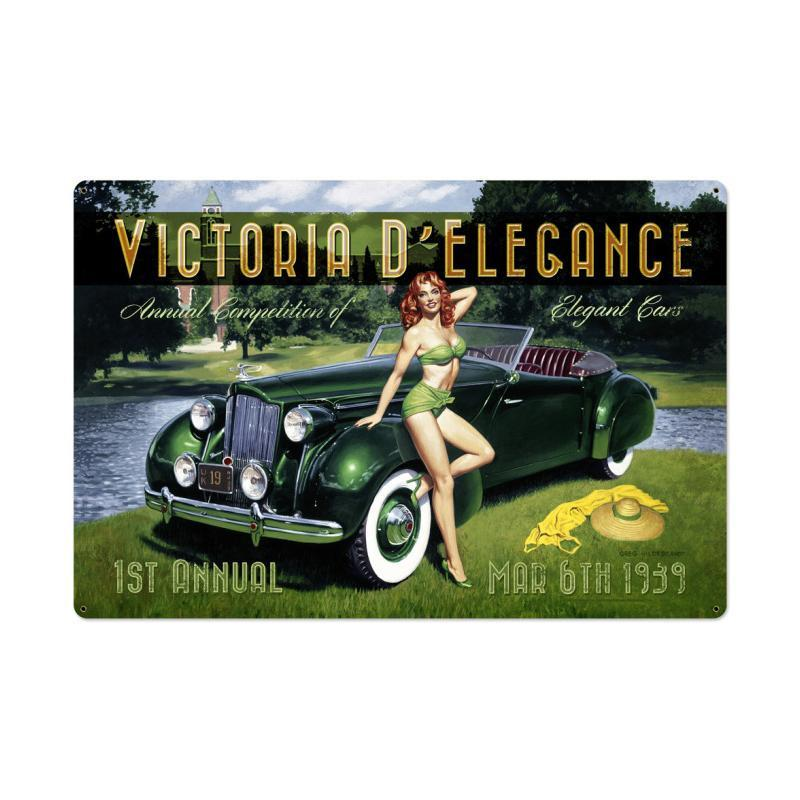 Victoria D Elegance Metal Sign - Man Cave Ideas