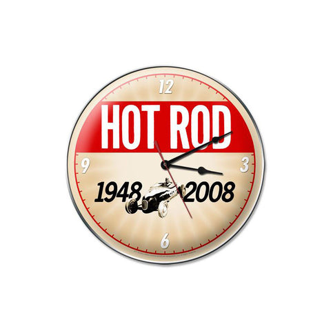 60th Anniversary Hotrod Clock - Man Cave Ideas