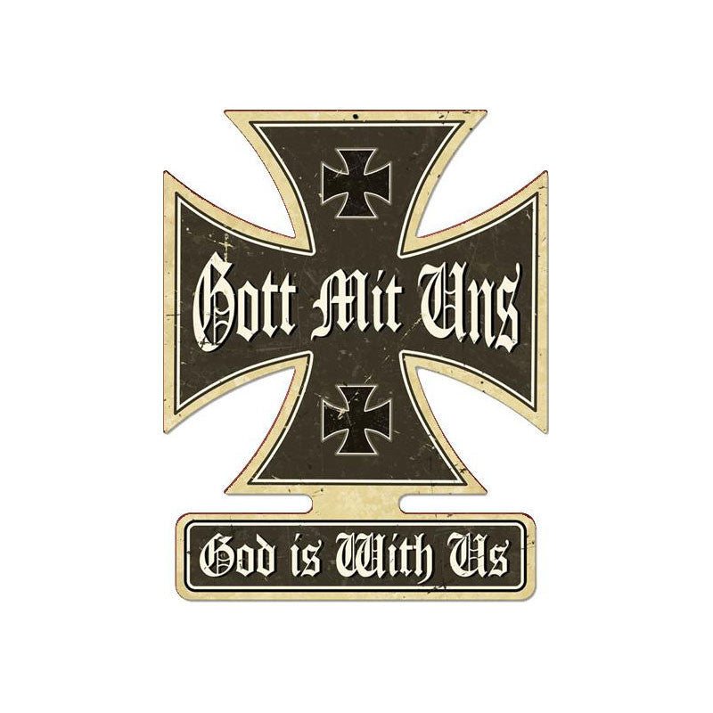 Gott Mit Uns Metal Sign - Man Cave Ideas