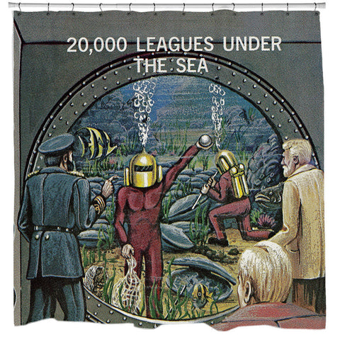 20,000 Leagues Under the Sea Shower Curtain - Man Cave Ideas  - 1
