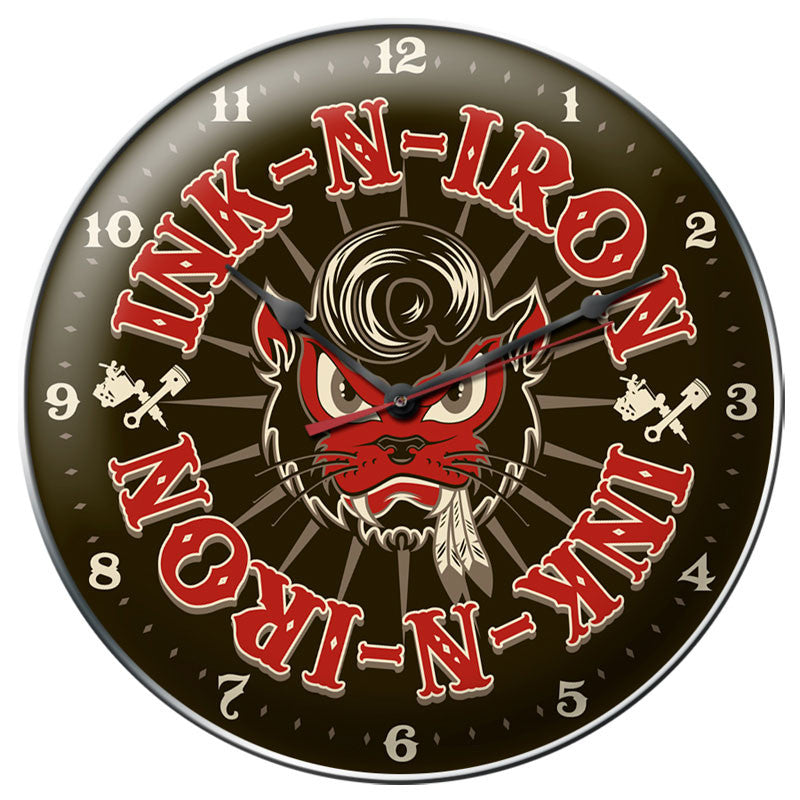 Cool Kat Clock - Man Cave Ideas