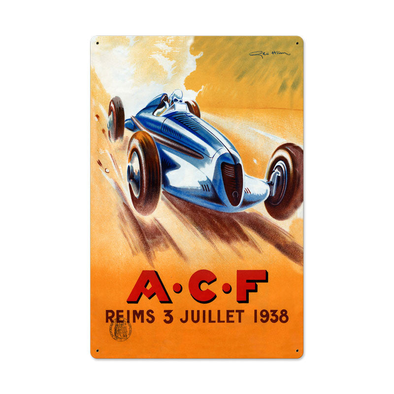 ACF Reims Metal Sign - Man Cave Ideas