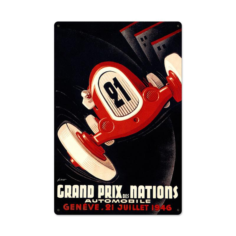 Nations Grand Prix Metal Sign - Man Cave Ideas