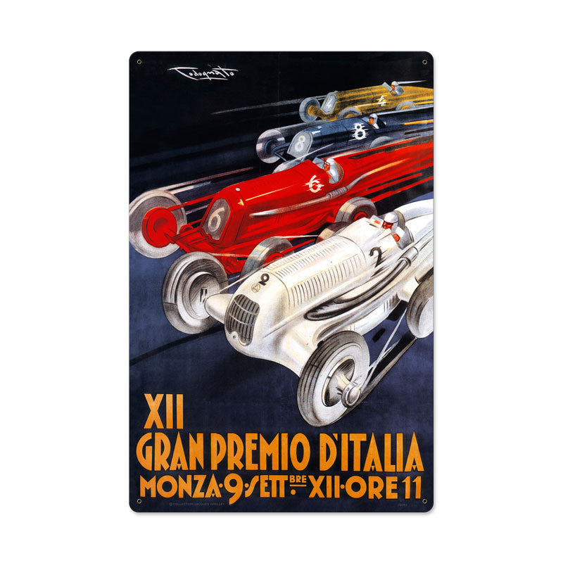 Gran Premio Italia Metal Sign - Man Cave Ideas
