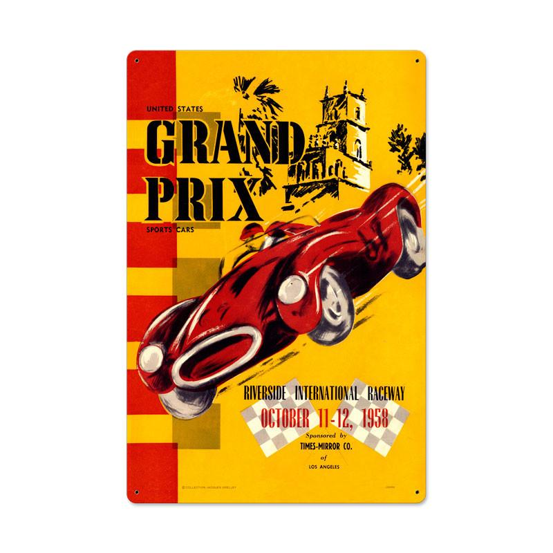 Riverside Grand Prix Metal Sign - Man Cave Ideas