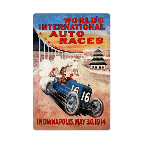 Worlds Race Metal Sign - Man Cave Ideas