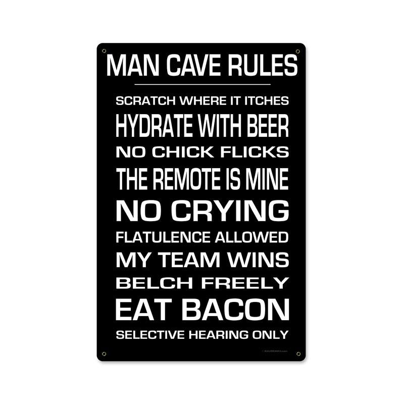 Man Cave Rules metal sign - Man Cave Ideas