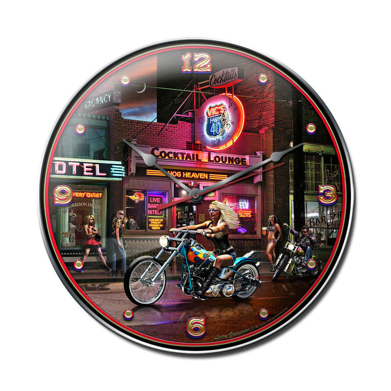 Biker Bar Clock - Man Cave Ideas