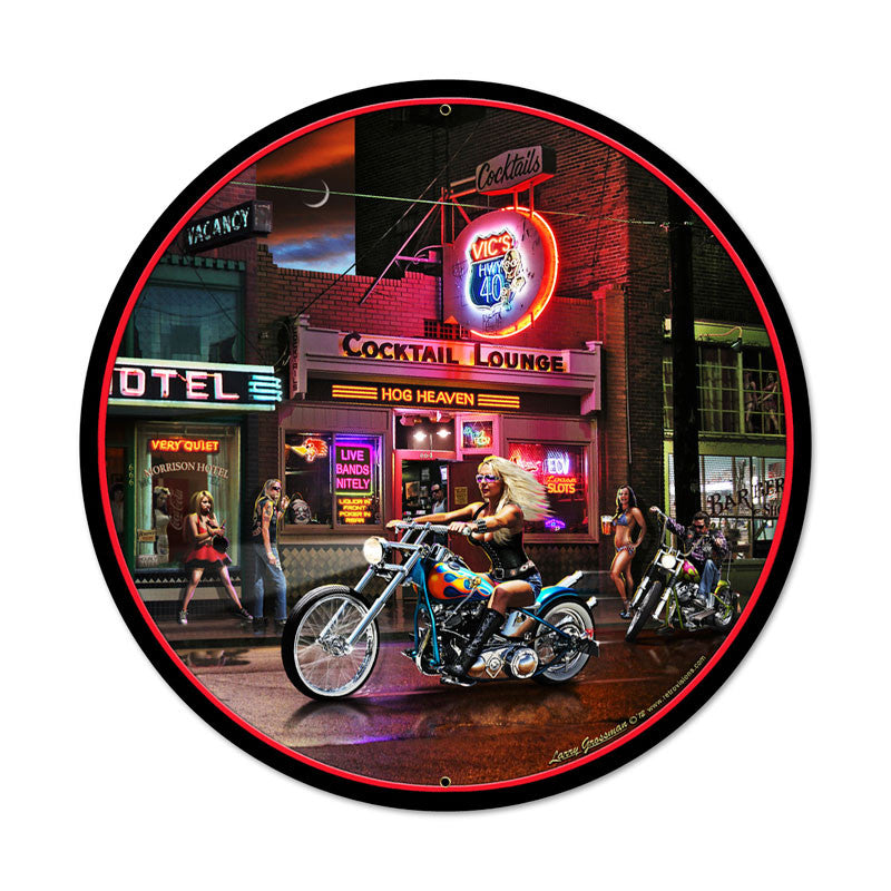 Biker Bar Metal Sign - Man Cave Ideas