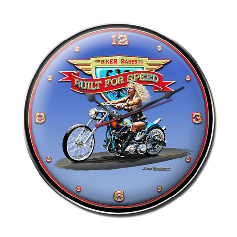Built For Speed Clock - Man Cave Ideas