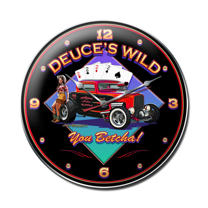 Deuces Wild Clock - Man Cave Ideas