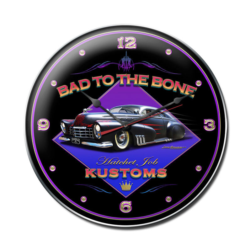 Bad To The Bone Clock - Man Cave Ideas