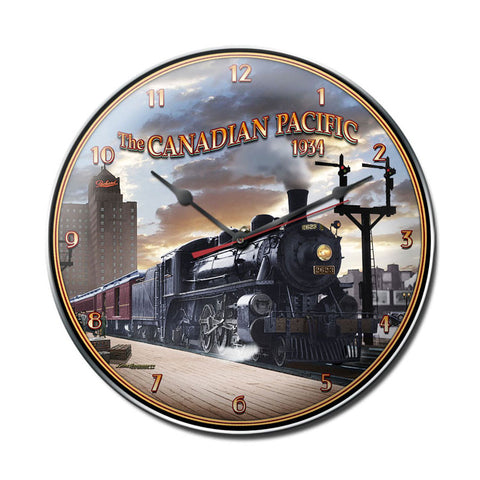 Canadian Pacific Clock - Man Cave Ideas