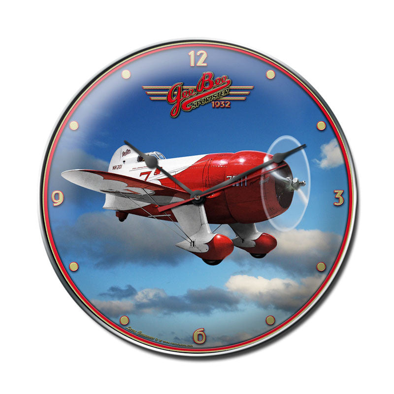 Gee Bee Racer Clock - Man Cave Ideas