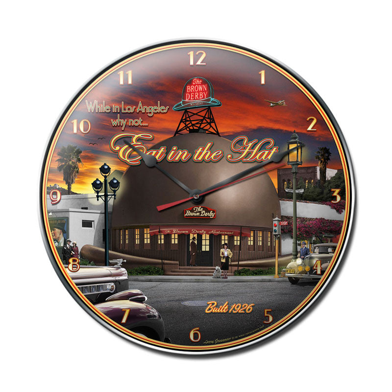 Brown Derby Clock - Man Cave Ideas