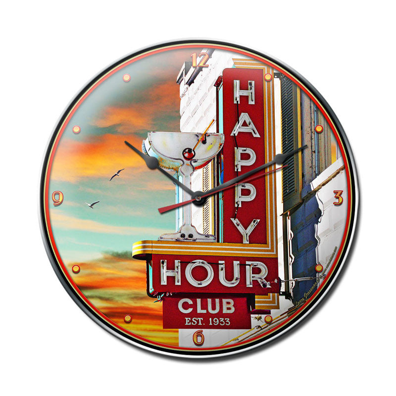 Happy Hour Clock - Man Cave Ideas