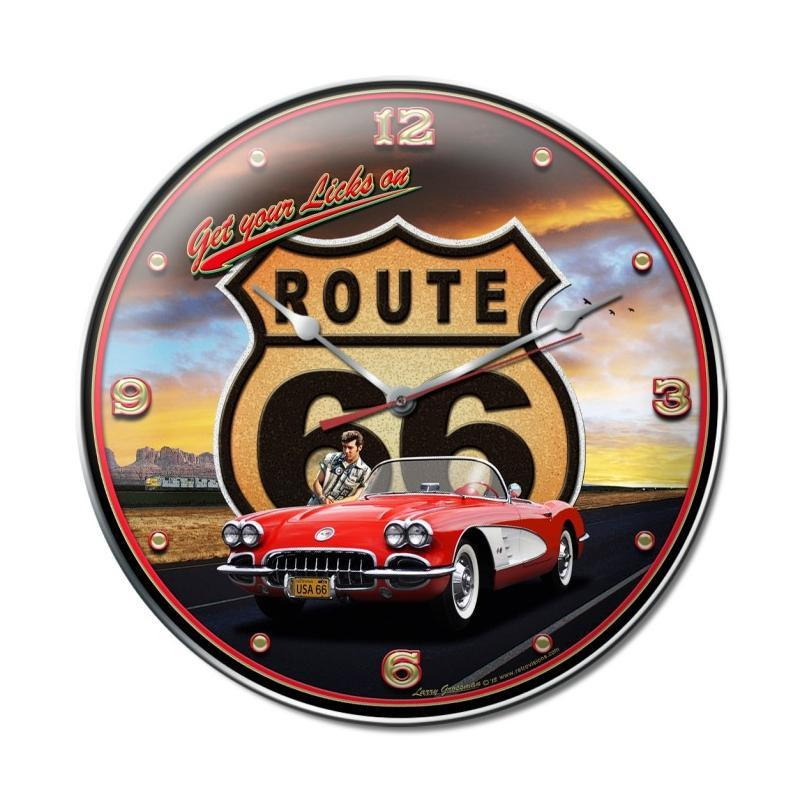 Route 66 II Clock - Man Cave Ideas