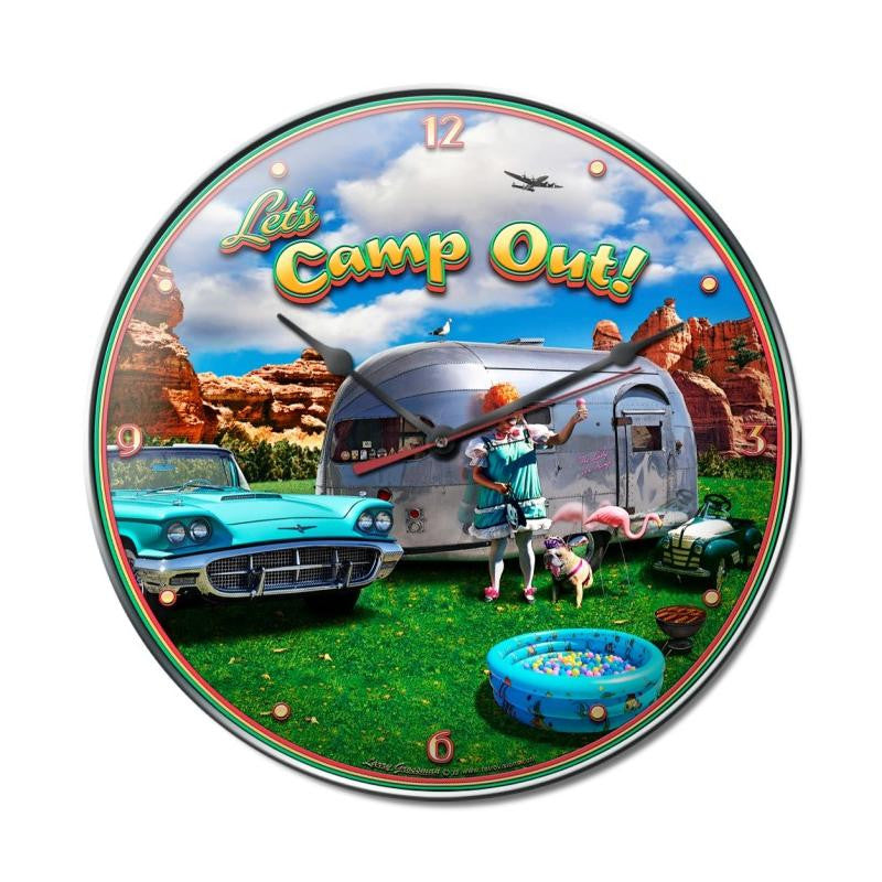 Camp Out Clock - Man Cave Ideas