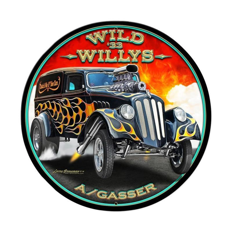 Wild Willys Metal Sign - Man Cave Ideas