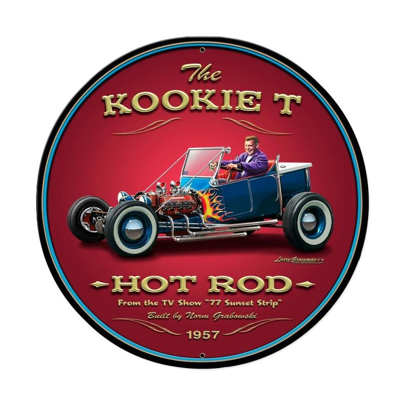 Kookie T Metal Sign - Man Cave Ideas