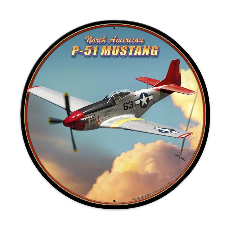 P-51 Mustang Metal Sign - Man Cave Ideas
