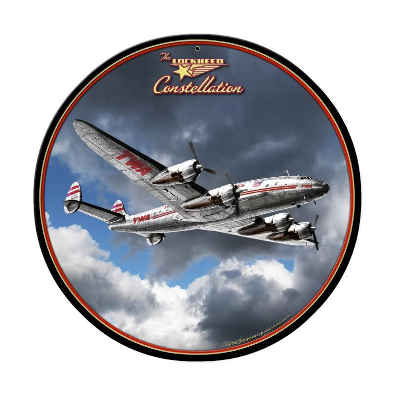 Lockheed Constellation Round Sign Metal Sign - Man Cave Ideas