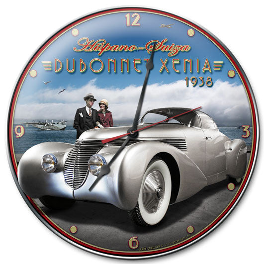 Dubonnet Xenia Clock - Man Cave Ideas
