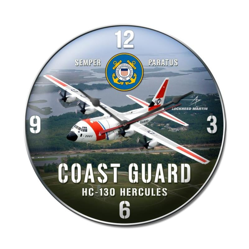 Coast Guard C130 Clock - Man Cave Ideas