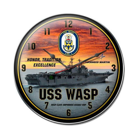 USS Wasp Clock - Man Cave Ideas
