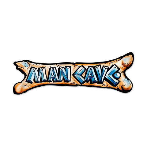 Man Cave Bone Metal Sign - Man Cave Ideas